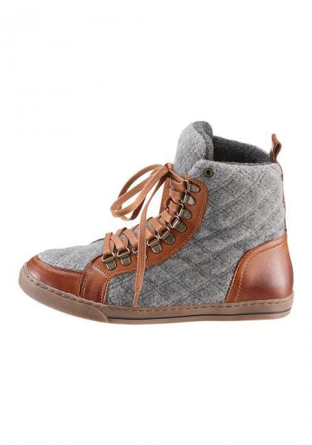 Leder-Filz-Schuh