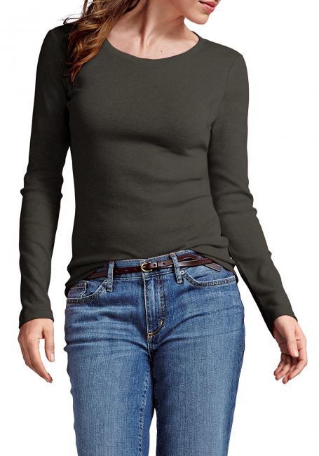 Shirt mit Langarm und Rundhalsausschnitt