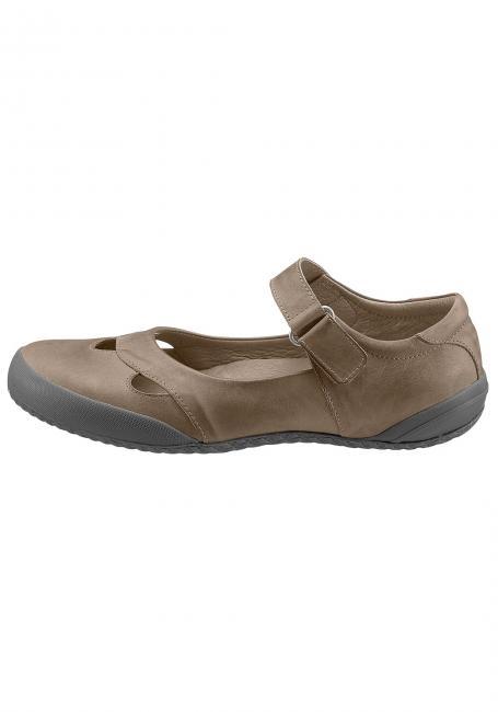 Leder-Schuh mit Klettverschluss