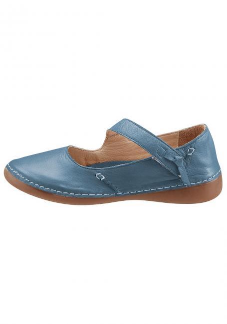Leder-Schuh mit diagonalem Riemen