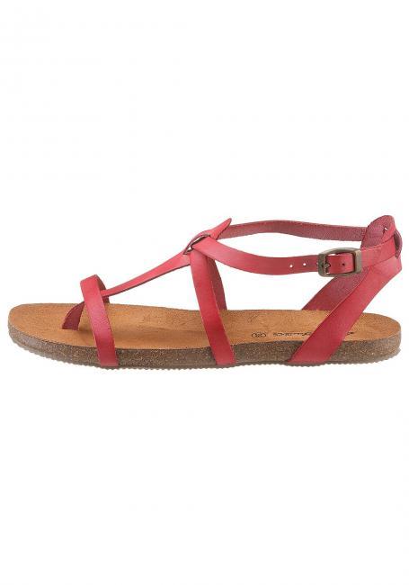 Leder-Sandale mit Zehensteg