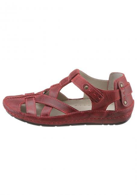 Leder-Sandale mit Klettverschluss