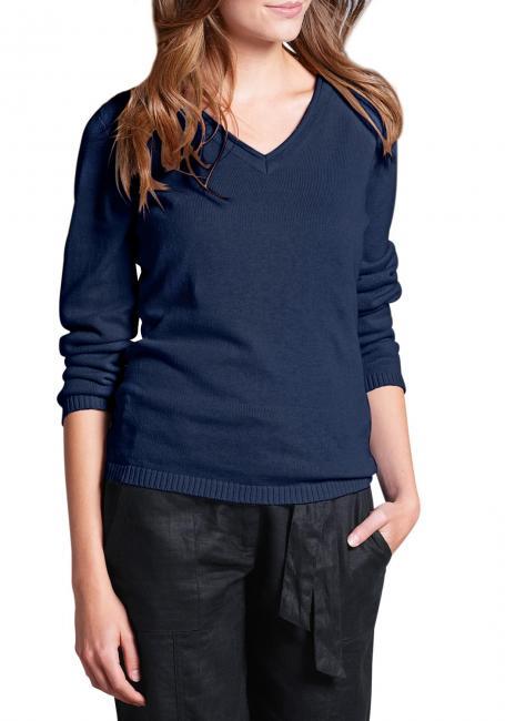 Pullover mit Rollkanten