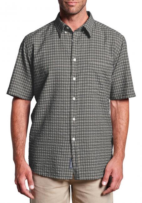Seersuckerhemd mit Button-Down-Kragen