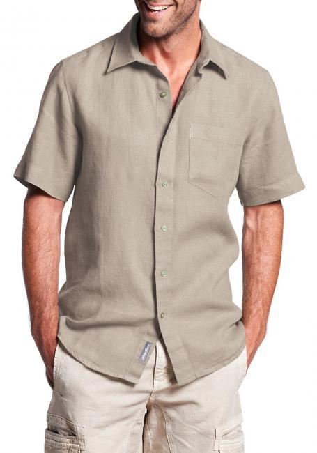 Kurzarmhemd aus Leinen