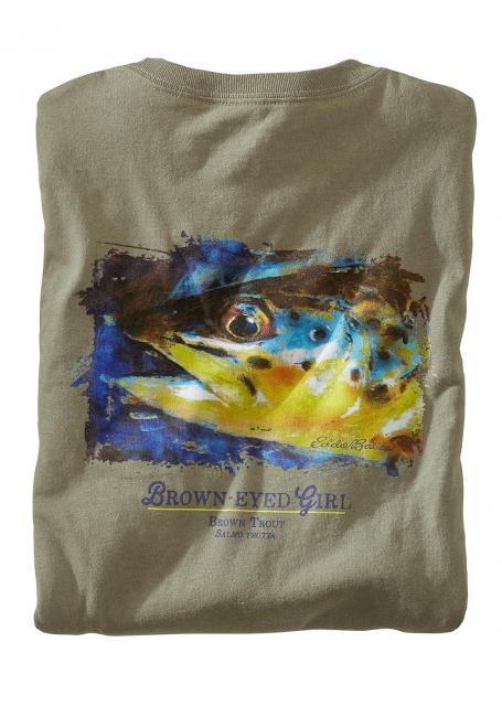 T-Shirt mit Forellenmotiv