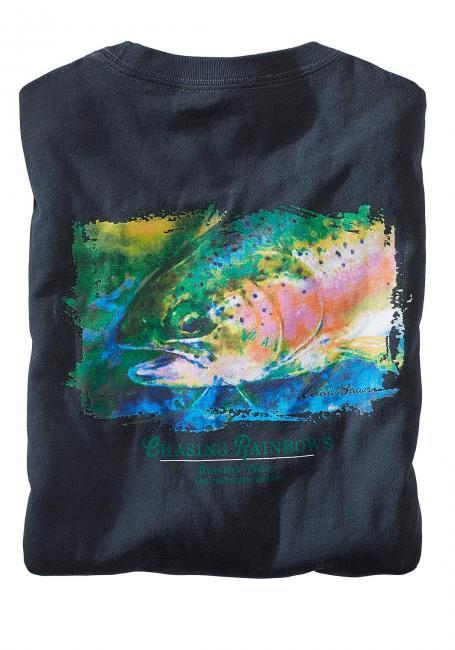 T-Shirt mit Regenbogenforellenmotiv