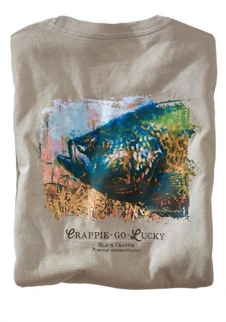 T-Shirt mit Fischdruck