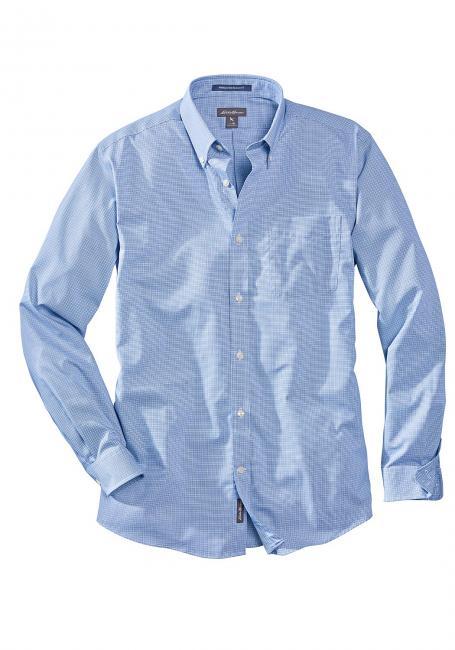 Knitterarmes Pinpoint Oxfordhemd - Langarm - Relaxed Fit - Blautöne