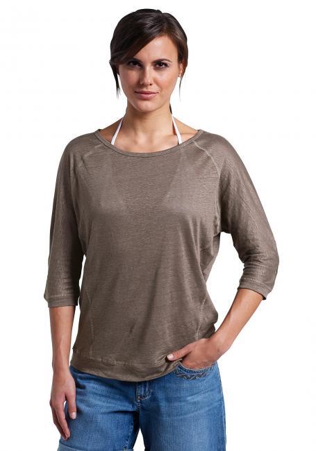 Oversize-Leinenshirt