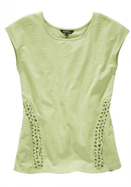 T-Shirt mit Flechtdetails