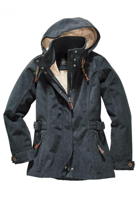 Softshell-Jacke in Cord-Optik