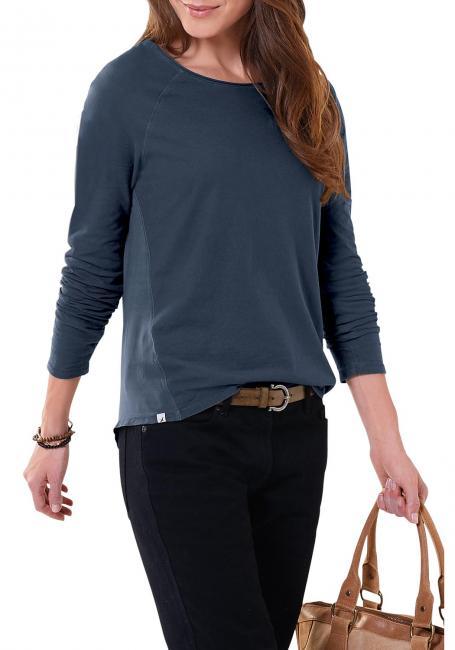 Langarmshirt im Materialmix