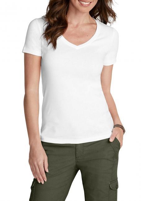Basic T-Shirt mit V-Ausschnitt