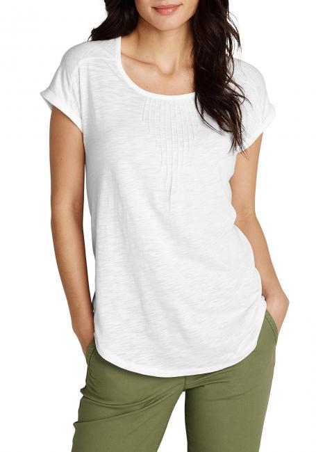 T-Shirt mit Biesen
