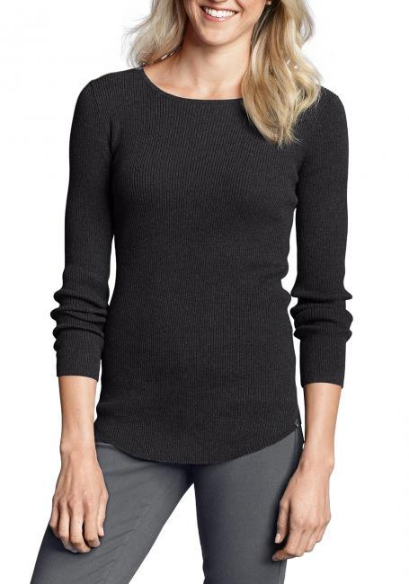 Pullover mit leicht gerundetem Saum