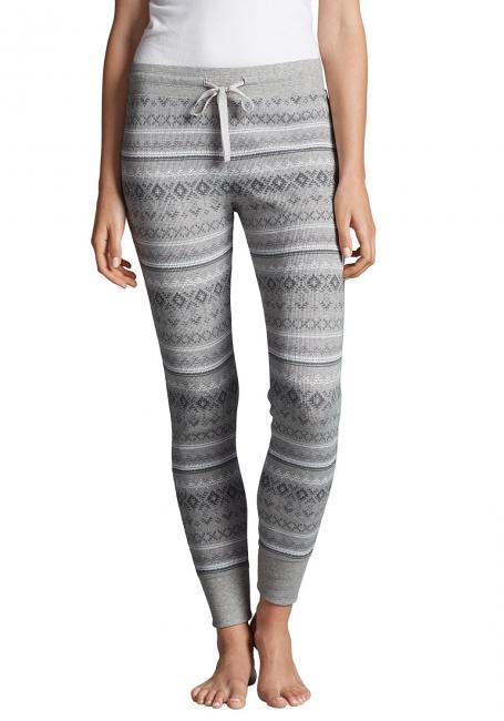 Pyjamahose in Waffeloptik bedruckt