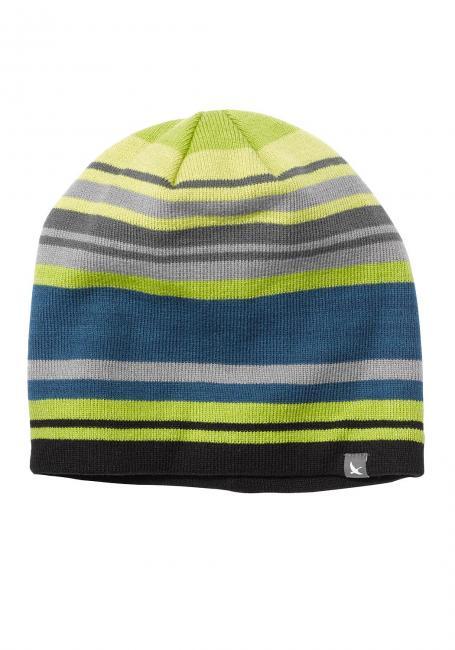 Beanie-Mütze mit Streifen