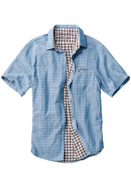 Doppellagiges Kurzarm-Hemd
