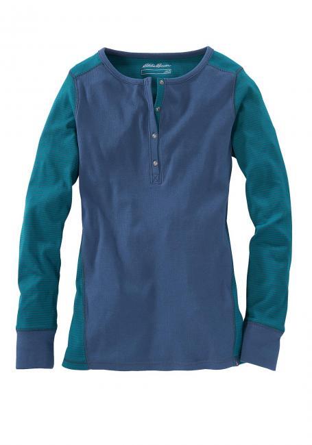 Mehrfarbiges Henleyshirt