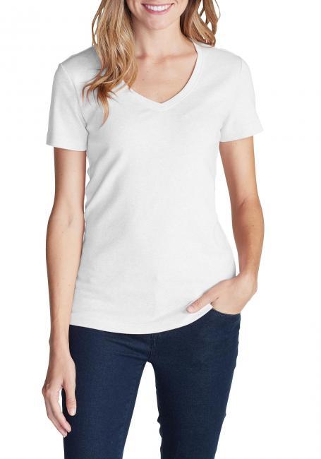 Favorite Shirt - Kurzarm mit V-Ausschnitt - Uni