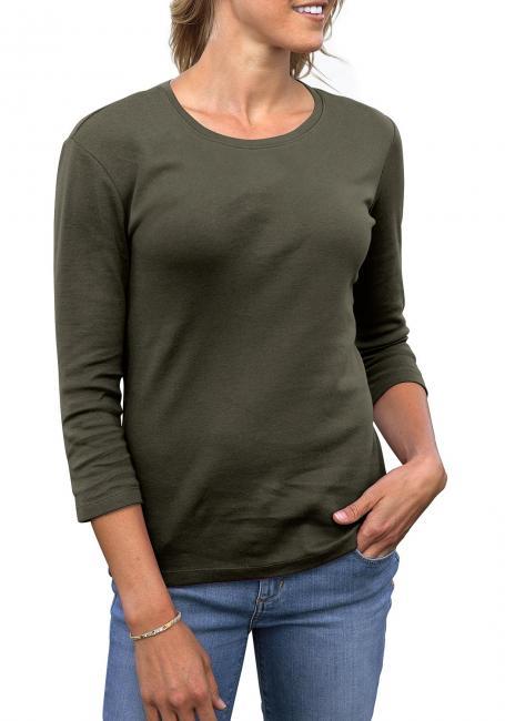 Shirt mit 3/4-Arm und Rundhalsausschnitt