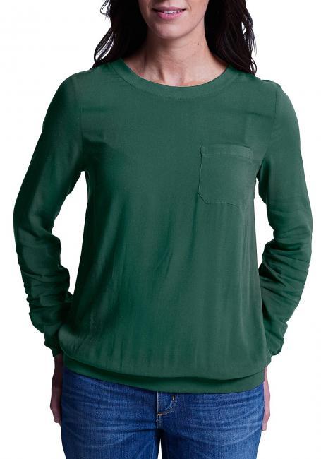 Bluse mit Sweatdetails