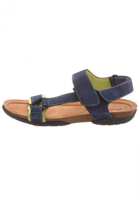 Velours-Trekking-Sandale