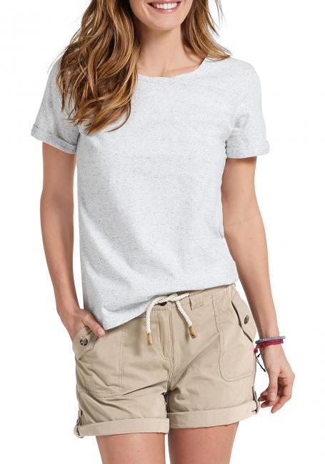 T-Shirt mit gedrehtem Rundhalsausschnitt