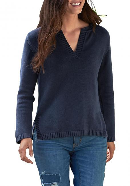 Pullover mit Y-Ausschnitt