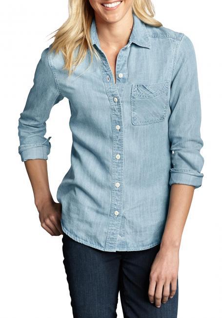 Bluse in Jeans-Optik