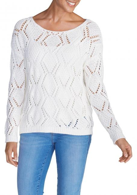 Pullover mit Ajourstrick
