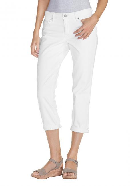 Boyfriend 3/4-Jeans - Weiß