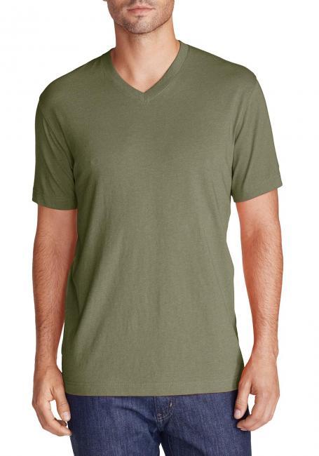 Legend Wash Kurzarm-Shirt mit V-Ausschnitt