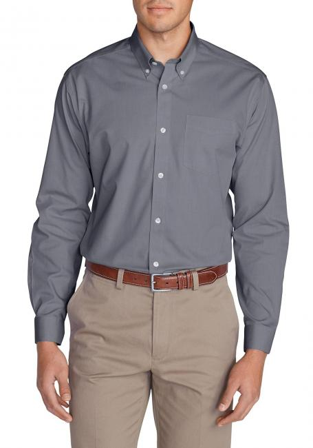 Knitterarmes Pinpoint Oxfordhemd - Langarm - Classic Fit - Uni
