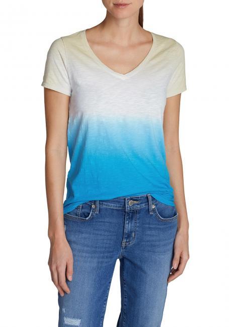 T-Shirt mit Dip-Dye