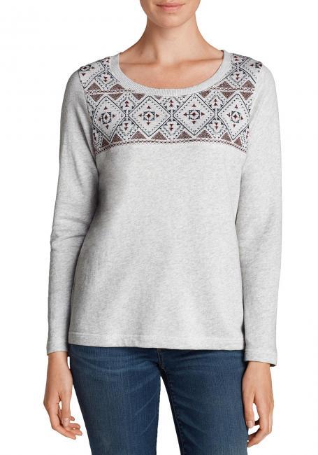Sweatshirt mit kontrastfarbigen Details