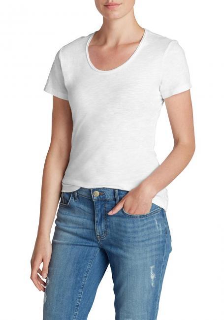 Essential Slub Shirt - Kurzarm mit Rundhalsausschnitt