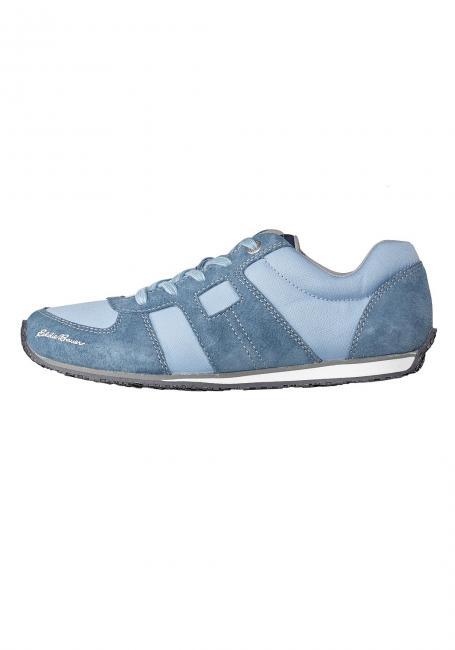 Leder-Sneaker mit Textileinsätzen