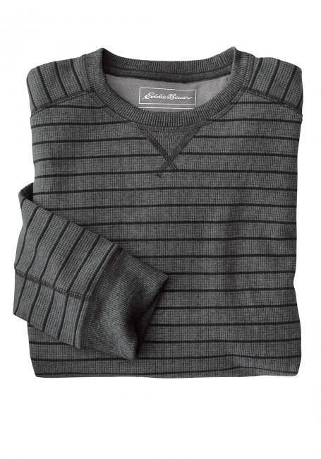 Eddie's Favorite Thermoshirt mit Rundhalsausschnitt - Gestreift