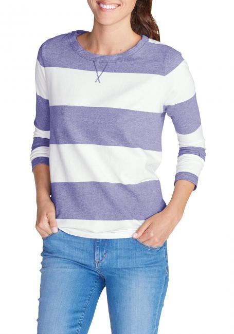 Rundhalssweatshirt gestreift