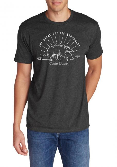 T-Shirt mit Motiv - Bear Pacific Northwest