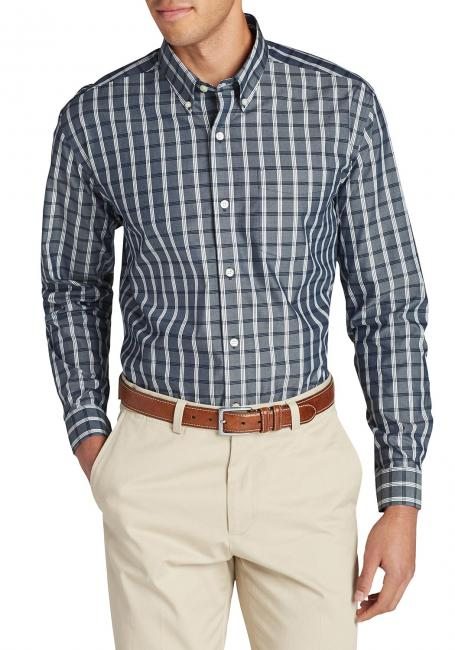 Oxfordhemd - Slim Fit, Langarm - Blautöne