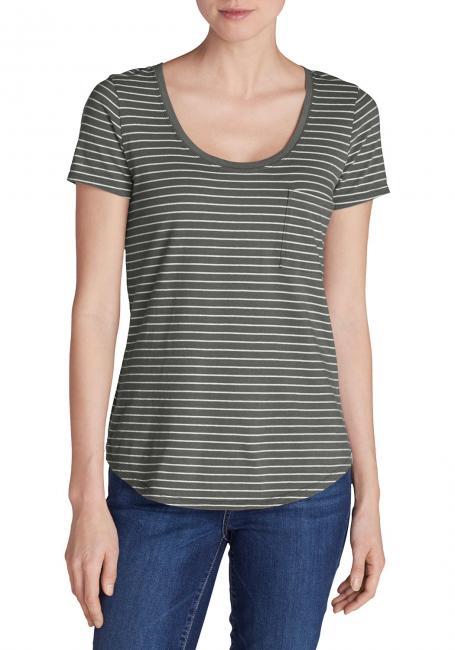 Gypsum T-Shirt mit Tasche - gestreift
