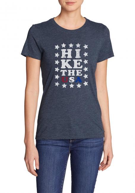 T-Shirt bedruckt Hike USA