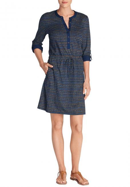 Blusenkleid aus Baumwoll-Slub - bedruckt