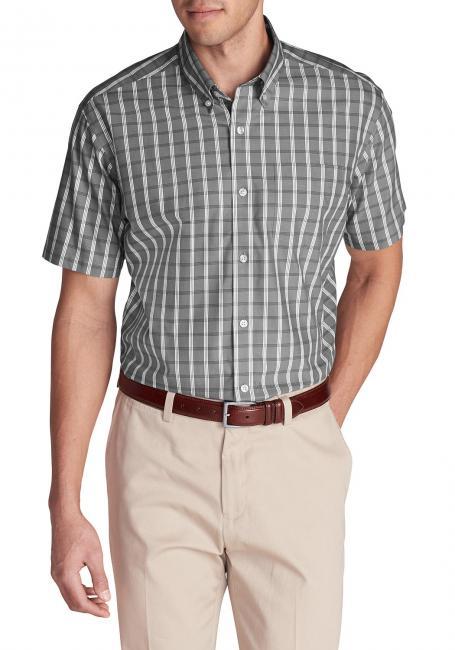 Oxfordhemden - Classic Fit, Kurzarm-gemustert