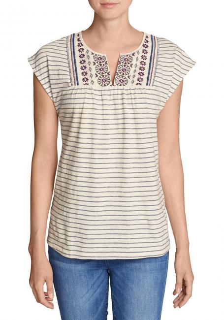Laurel Canyon Besticktes Shirt - Gestreift