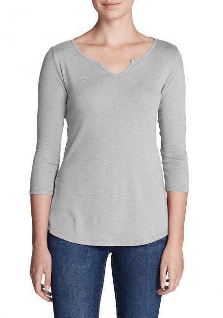 Favorite Shirt - 3/4-Arm mit Y-Ausschnitt