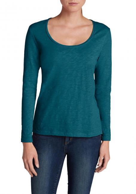 Essential Slub Shirt - Langarm mit Rundhalsausschnitt
